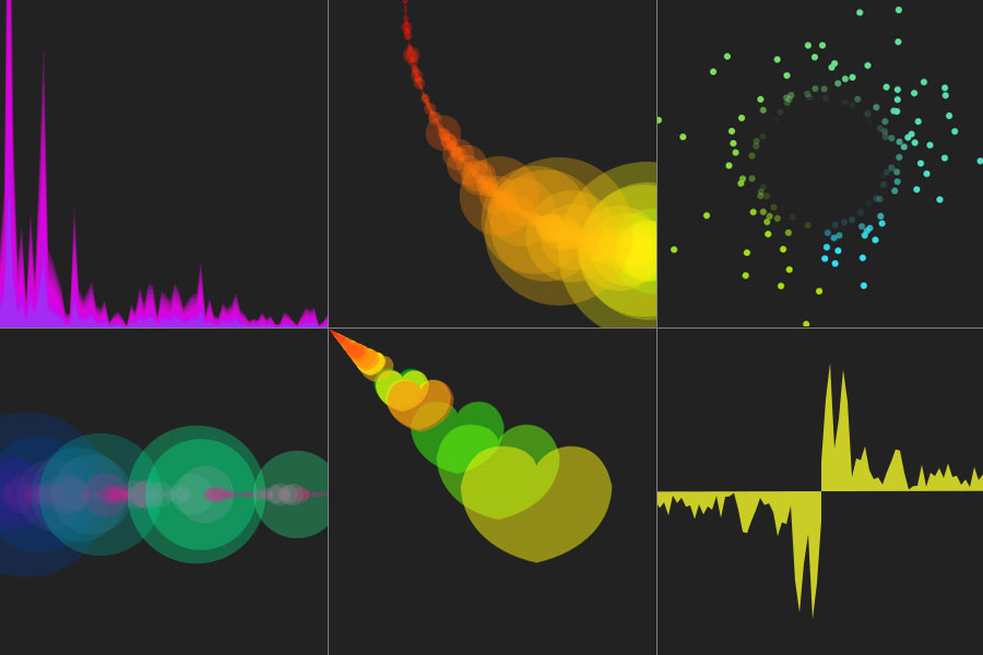 Canvas visualizations using HTML5 and patched version of Firefox