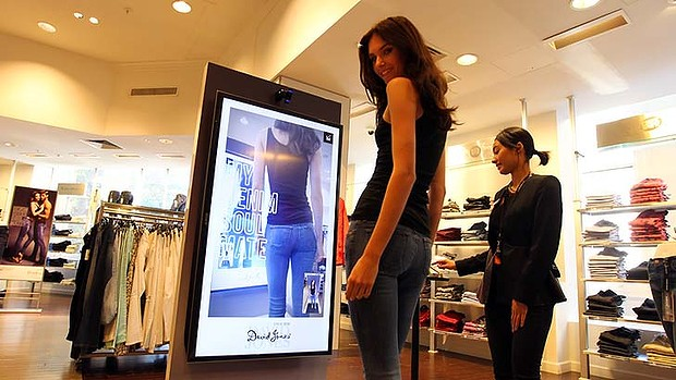 David Jones instore photo booth in use.