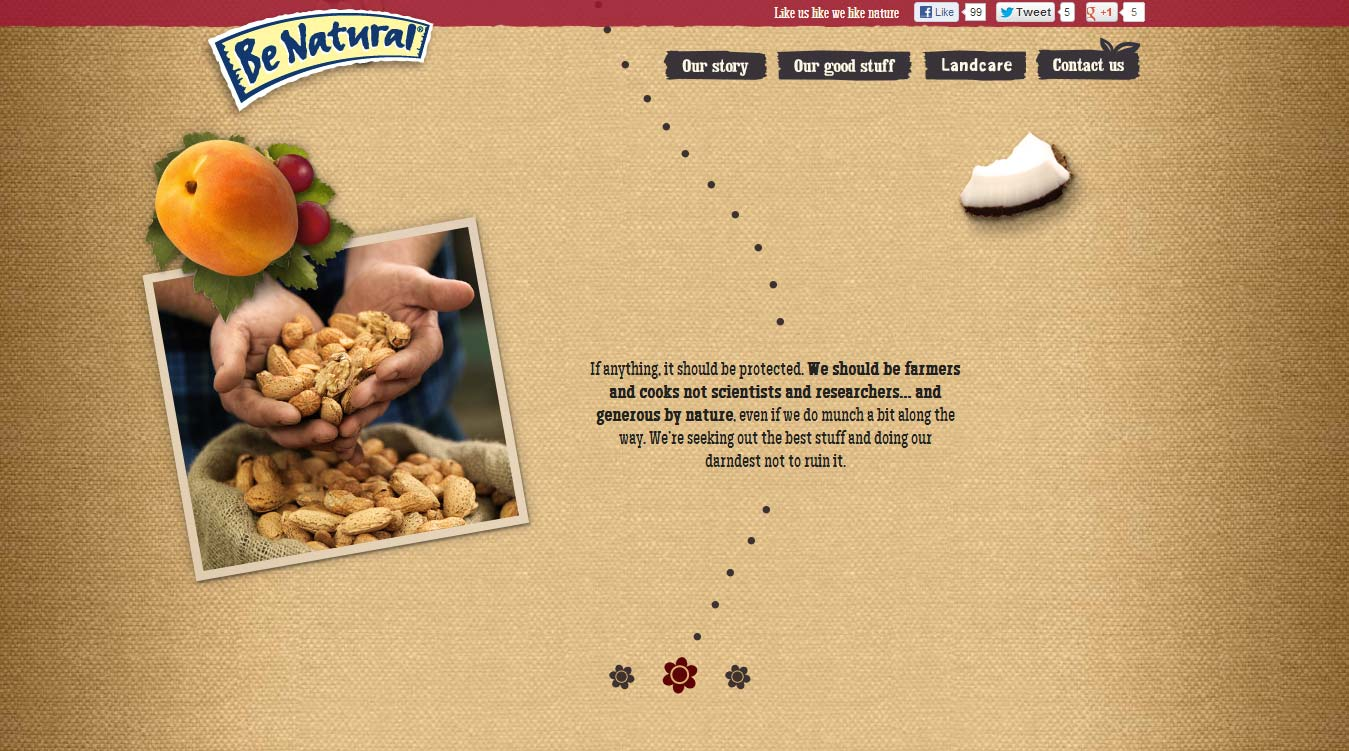 Kellogg's Be Natural homepage 3.