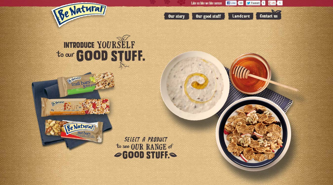 Kellogg's Be Natural homepage 4.